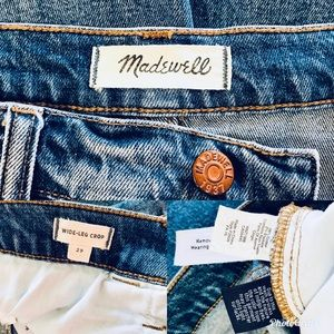 Madewell Jeans - MADEWELL Wide Leg Crop Jeans